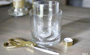 diy kate spade inspired gold striped vases for, crafts