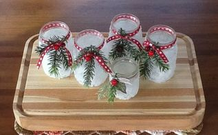 icy candle jars, christmas decorations, crafts