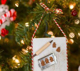 Miniature gingerbread baking scene christmas ornament hometalk