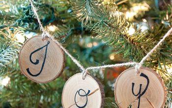 Rustic Wood Slice Ornament Banners