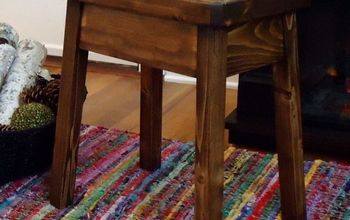 knockoff plow hearth elmwood stool, diy, painted furniture, woodworking projects