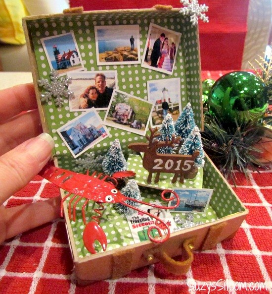 diy miniature suitcase ornaments christmas decorations crafts seasonal holiday decor