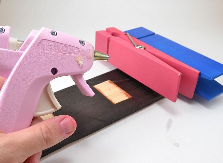 giant clothespin memo holder, crafts