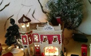 christmas village, christmas decorations, crafts