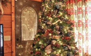 how to decorate a christmas tree with ribbon, christmas decorations, crafts, seasonal holiday decor