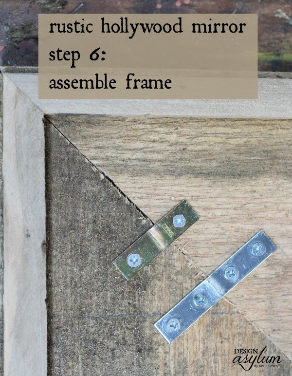 how to build a rustic hollywood mirror, diy, home decor, how to, wall decor, woodworking projects