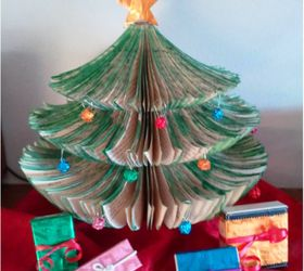 Attractive Tiny Space Upcycled Book Christmas Tree Diy, Christmas Decorations, Crafts,  Repurposing Upcycling Amazing Design