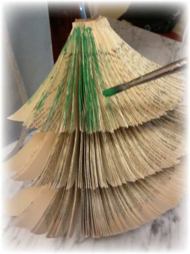 tiny space upcycled book christmas tree diy christmas decorations crafts repurposing upcycling - Christmas Tree Book