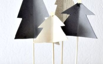 diy easy paper christmas trees display, christmas decorations, crafts, how to, seasonal holiday decor