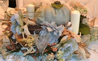 a rustic thanksgiving tablescape with modgepodge pumpkin, seasonal holiday decor, thanksgiving decorations