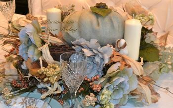 A Rustic Thanksgiving Tablescape With Modgepodge Pumpkin