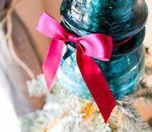 vintage insulator christmas tree topper, christmas decorations, crafts, home decor, repurposing upcycling, seasonal holiday decor