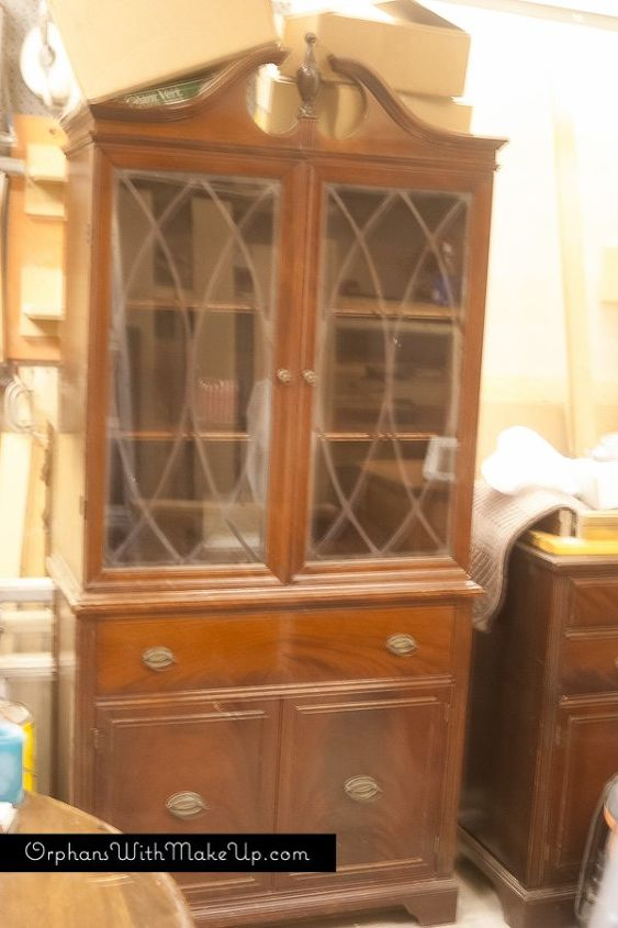China Cabinet Makeover From Traditional To Farmhouse