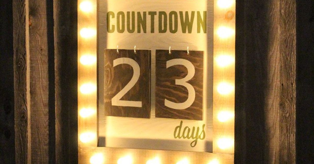 outdoor christmas days until christmas sign hometalk - Countdown Till Christmas Decoration