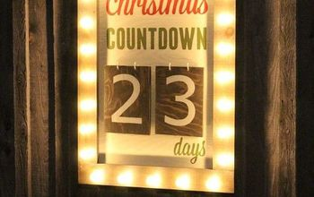 Outdoor Christmas: Days Until Christmas Sign