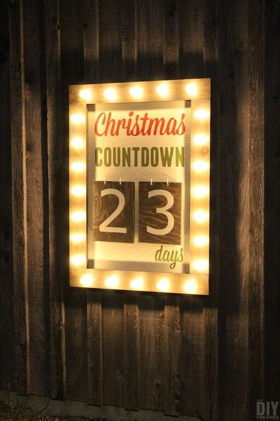 outdoor christmas days until christmas sign, christmas decorations, crafts, seasonal holiday decor