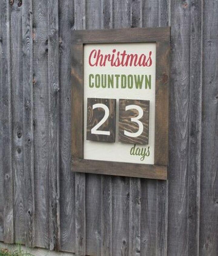 outdoor christmas days until christmas sign, christmas decorations, crafts, seasonal holiday decor
