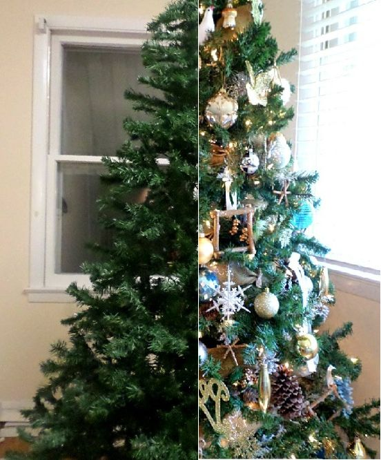 how to make the most of a cheap christmas tree, christmas decorations, how  to - How To: Make The Most Of A Cheap Christmas Tree Hometalk