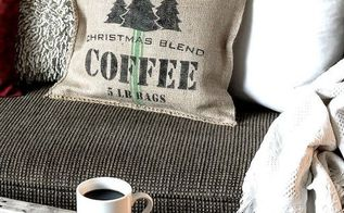 how to make your own 10 minute grain sack pillows christmas style, christmas decorations, crafts, how to, repurposing upcycling, seasonal holiday decor