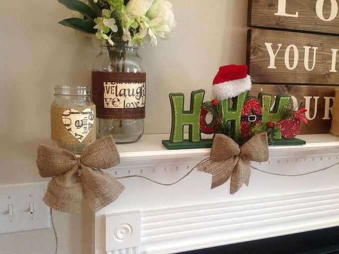 burlap bow garland somewhat cheater method, crafts