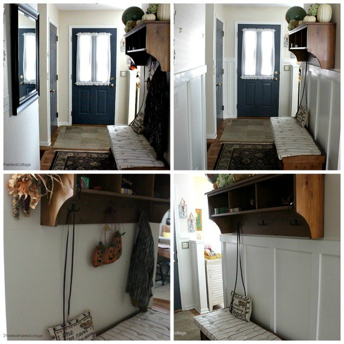 Before and After in our entry