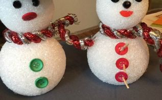 dollar store christmas snowmen, christmas decorations, crafts, seasonal holiday decor