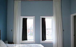 let s make a giant floor to ceiling curtain, diy, home decor, wall decor, window treatments