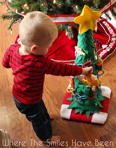 diy toddler christmas tree from a traffic cone christmas decorations crafts seasonal holiday