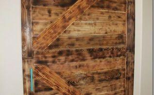 diy large barn door perfect for large openings diy, diy, doors, home office, repurposing upcycling, rustic furniture
