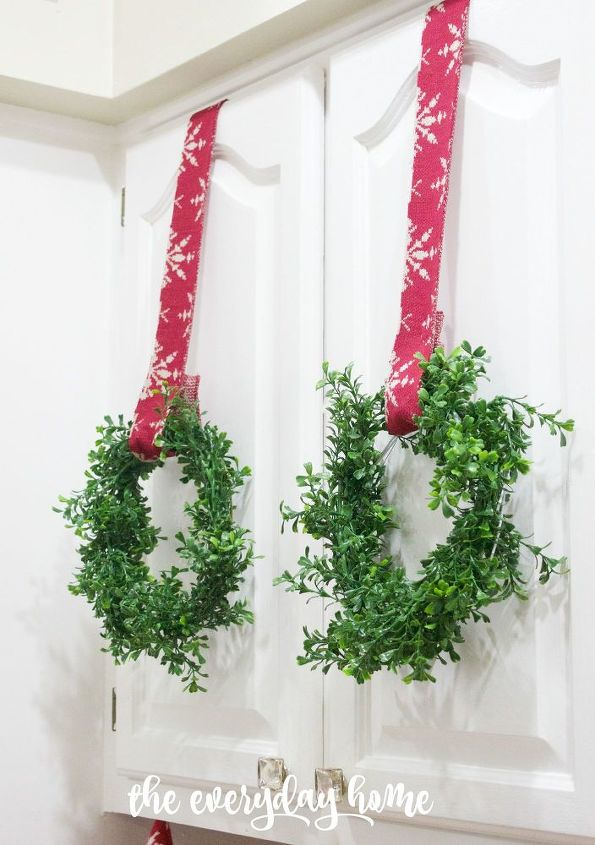 make your own mini faux boxwood wreaths for about 4 ea versus 14, christmas decorations, crafts, seasonal holiday decor, wreaths