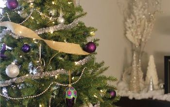 a silver purple glam christmas tree, christmas decorations, how to, seasonal holiday decor