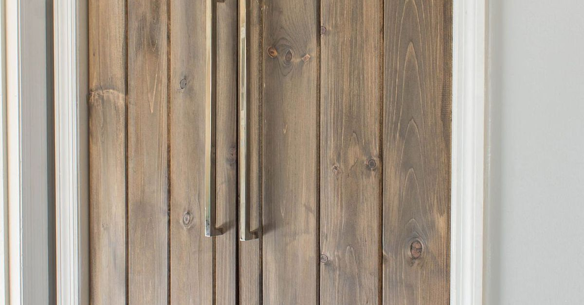 Double Pantry Barn Door Diy Under 90 Hometalk
