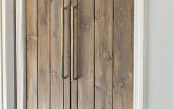 double pantry barn door diy under 90, closet, diy, doors, kitchen design, woodworking projects