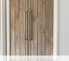 Double Pantry Barn Door Diy Under 90, Closet, Diy, Doors, Kitchen Design