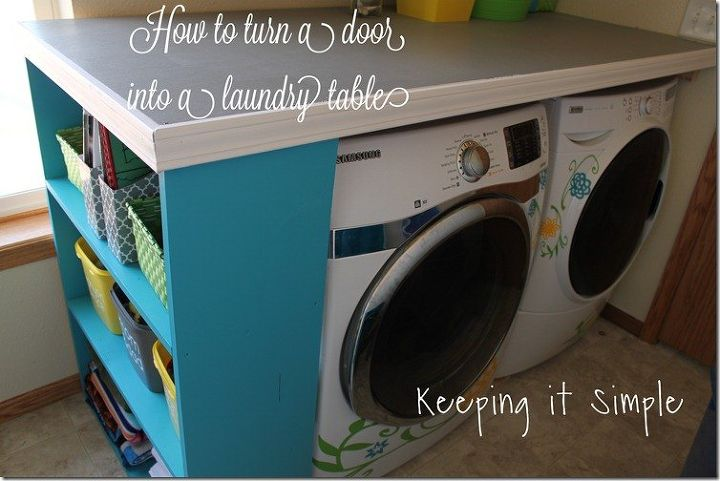 How To Turn A Door Into A Laundry Room Table Diy Buildit