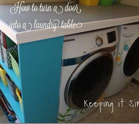 How To Turn A Door Into A Laundry Room Table Diy, Diy, Doors,