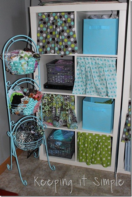 curtains for cube book shelf diy, craft rooms, diy, organizing, repurposing upcycling, shelving ideas, storage ideas