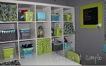 Curtains for Cube Book Shelf #DIY