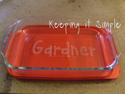 great wedding or christmas gift etched casserole dish diygifts, crafts