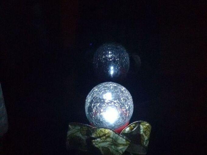 solar mason jar crackle globe, christmas decorations, crafts, mason jars, seasonal holiday decor