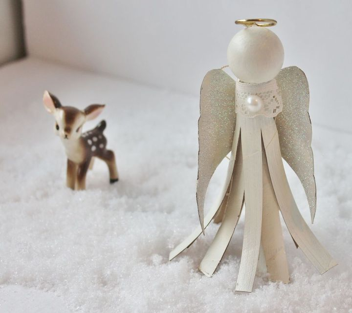 toilet paper tube angel, christmas decorations, crafts