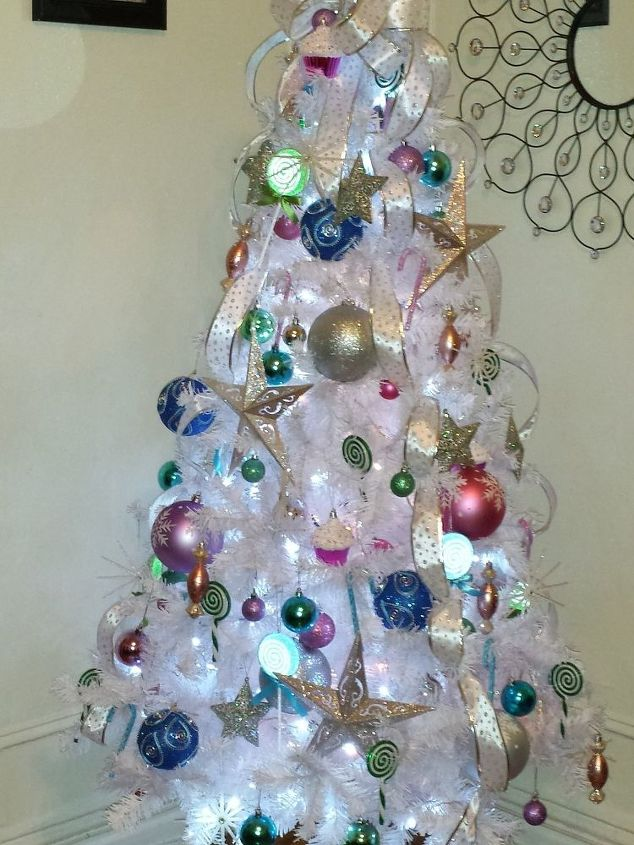 Candy Themed Christmas Decorations.Candy Themed Christmas Tree Topper Hometalk