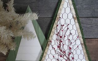 simple trees with bead board and chicken wire, christmas decorations, crafts, seasonal holiday decor