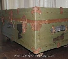 wwii navy trunk revive, painted furniture, repurposing upcycling