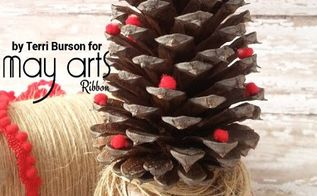 make a budget friendly rustic pine cone jingle bell, christmas decorations, crafts, seasonal holiday decor