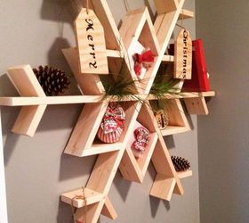 Let It Snow My Diy Wooden Snowflake Shelf, Christmas Decorations, Diy,  Seasonal Holiday