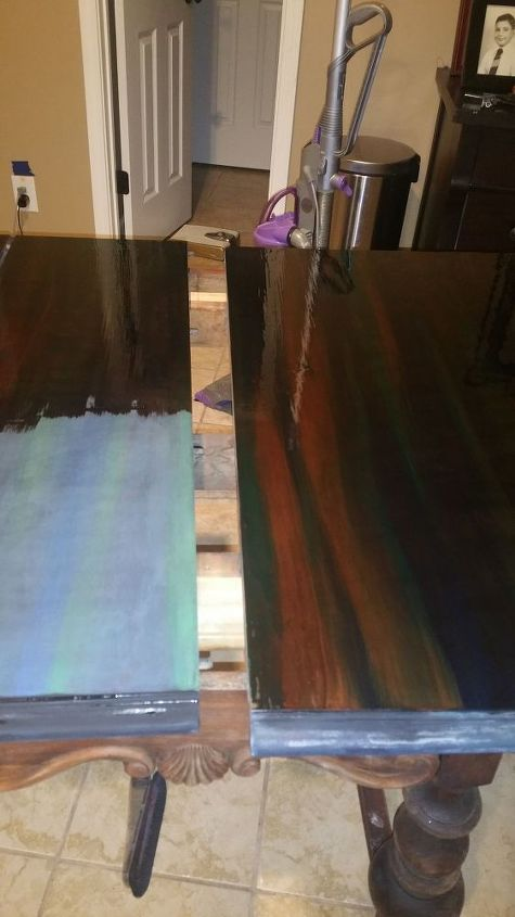 mahogany with a twist, painted furniture