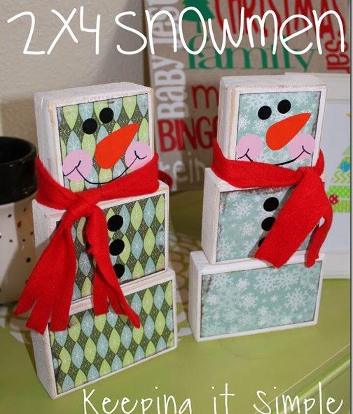 Christmas Decoration 2x4 Snowman Christmasdecorations Hometalk