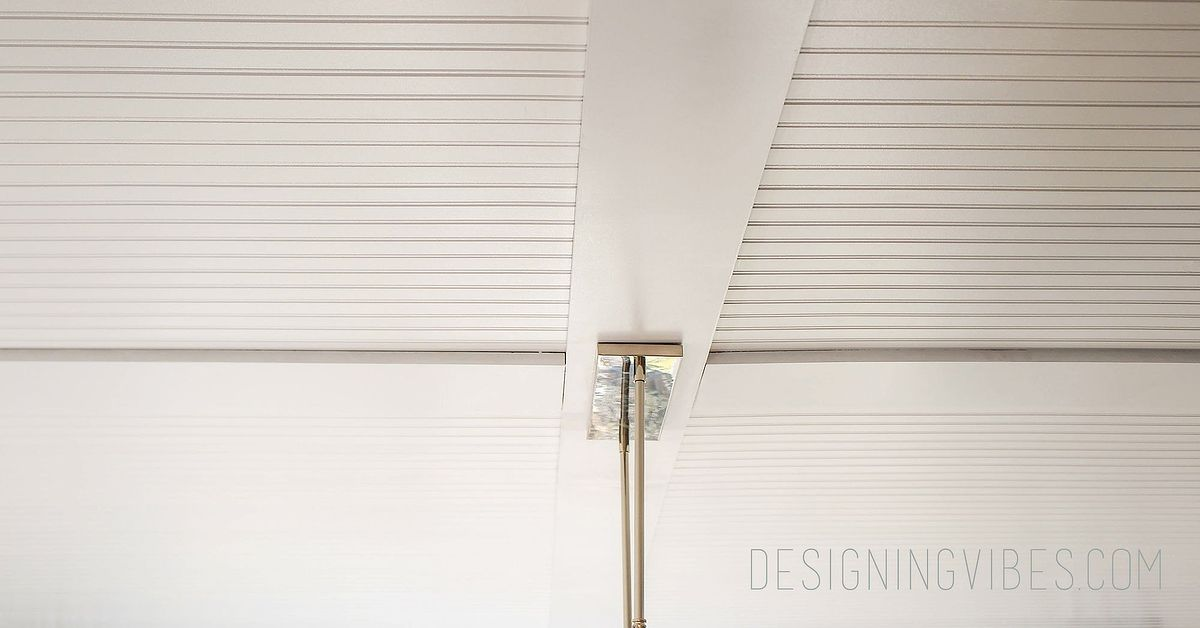How To Cover Popcorn Ceiling With Beadboard Planks Diy Hometalk