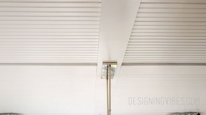 how to cover popcorn ceiling with beadboard planks diy, diy, home improvement, how to, wall decor, woodworking projects